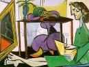 picasso-interior-cu-o-fata-care-deseneaza-130x98 Picasso, Pablo