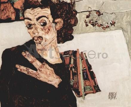 schiele-autoportret-ceramica-neagra-439x360 schiele-autoportret-ceramica-neagra