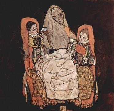 schiele-mama-doi-copii-372x360 schiele-mama-doi-copii
