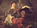 autoportret-saskia-brate-130x98 Rembrandt - Autoportrete