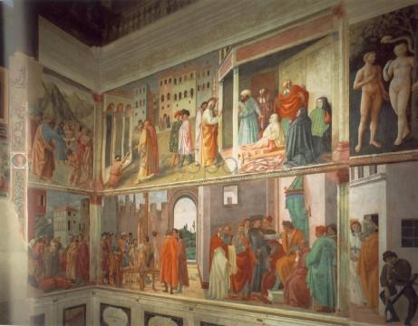masaccio-461x360 Capela Brancacci, Peretele din dreapta, Masaccio